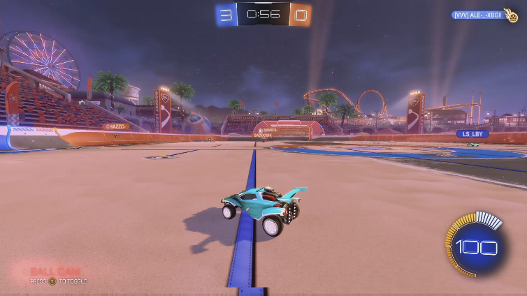 Cluck playing Rocket League